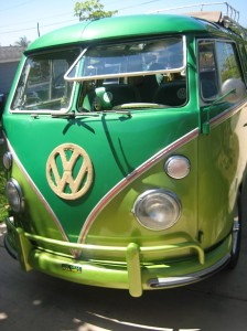 green bus front